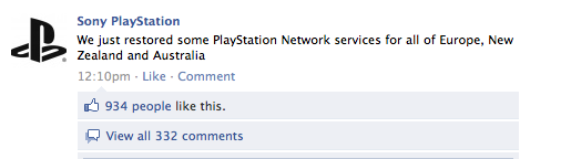 PSN is Back Up in Australia and New Zealand