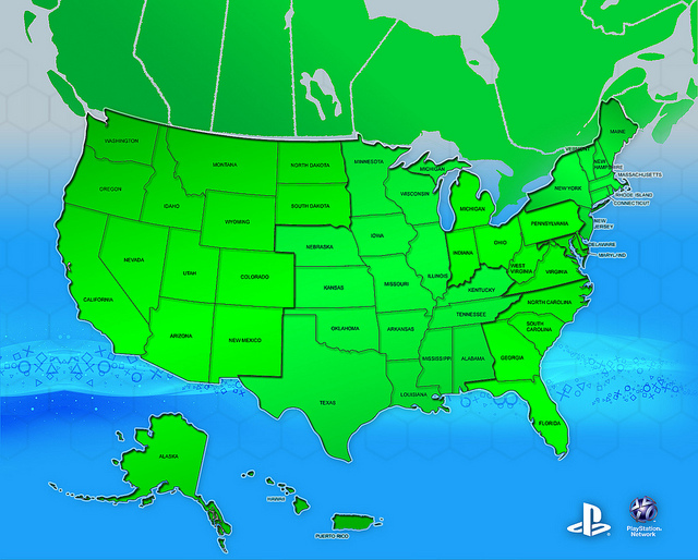 PSN Map United States