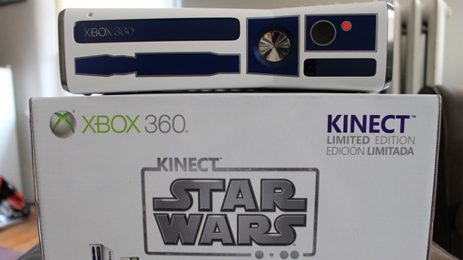 Star Wars Xbox 360 bundle front of the system