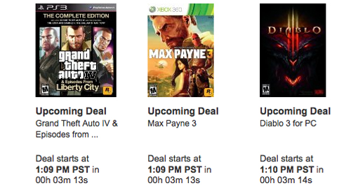 Amazon Black Friday deals for video game 2012