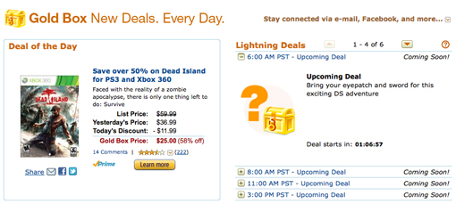 Amazon Deal of the Day is Dead Island, Call of Duty MW3 and more.