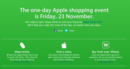 Apple Black Friday Deals 2012