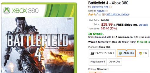 Battlefield 4 cyber monday sale