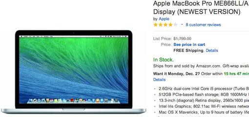 black friday 2013 mac laptop