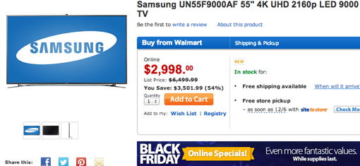 Black Friday Samsung TVs