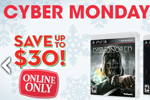 gamestop cyber monday deals wii u xbox 360 star wars ps3 250gb lego