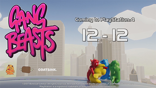 Double Fine Presents: Gangbeasts // PS4 Release Announcement