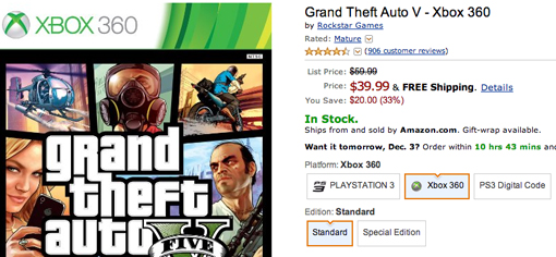Grand Theft Auto 5 Cyber Monday deal
