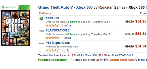 Grand Theft Auto 5 Black Friday and Cyber Monday 2013 deals