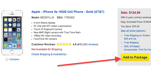 iPhone 5S on sale at Best Buy