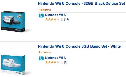 Wii U at Amazon