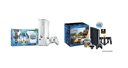 PS3 250GB bundle, Xbox 360 Skylander bundle at Walmart