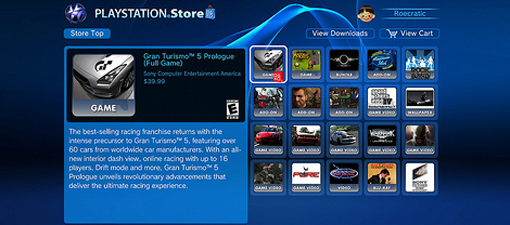 PS Store new games for PS3 on PSN screenshot
