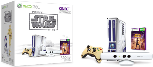 R2-D2 Xbox 360 console bundle that comes with Kinect Star Wars