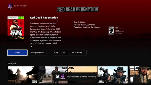 Red Dead Redemption and More Backwards Compatible on Xbox One