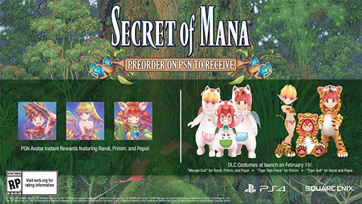 A Secret of Mana 3D remake is coming out in February 2018