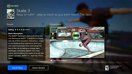 Skate 3 Now Available in EA Access Vault and Backwards