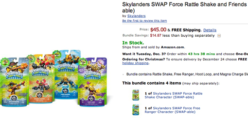 Skylanders characters for sale on Cyber Monday