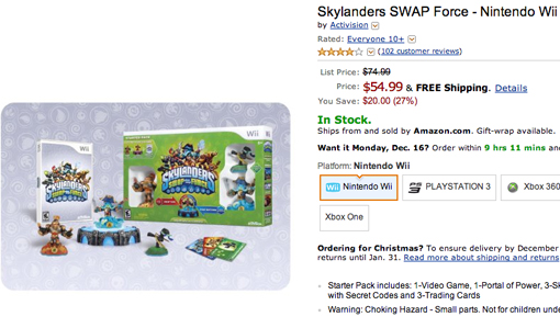 Skylanders Swap Force on sale