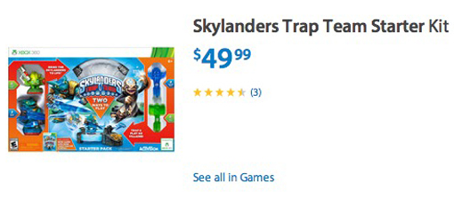Skylanders Trap Team Walmart sale Cyber Monday deal 2014