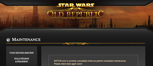 SWTOR server is down, outage due to free-to-play update