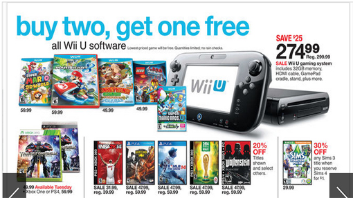 Wii U Buy Two Games Get One Free Promotion At Target This Week