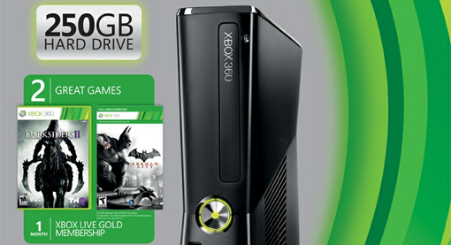 new Xbox 360 bundle 250GB console with free games
