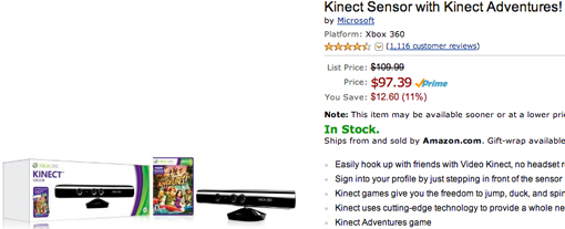 Xbox 360 Kinect bundle for Cyber Monday